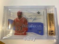 Bgs 9.5 Michael Jordan 2003-04 Upper Deck Ud Glass Auto Focus Autograph Card Sp