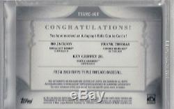 Bo Jackson auto Ken Griffey Jr autograph Frank Thomas Bat/Jrsy/Pants BGS 9 MINT