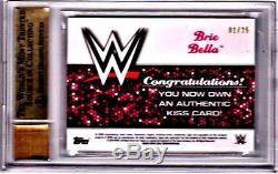 Brie Bella topps WWE 2016 autograph /25 diva kiss 1/25 BGS 9.5 10 auto Nikki