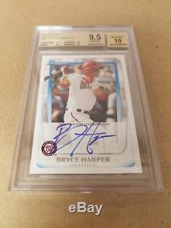 Bryce Harper 2011 Bowman Prospects Rc Rookie Autograph Sp Auto Bgs 9.5 Gem 10