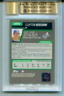 CLAYTON KERSHAW 2006 Bowman Chrome Draft Rookie RC Auto Autograph Gem BGS 9.5 10