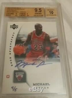 Chicago Sportsfest Michael Jordan Upper Deck Bulls Autograph 4/5 Bgs 9.5 Auto 10