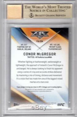 Conor Mcgregor 2017 Topps Ufc Fire Auto Autograph #06/25 Bgs Gem Mint 9.5/10