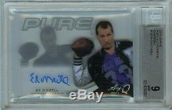 Ed O'neill Al Bundy Auto Bgs 9 10 Mint 2014 Leaf Q Pure Autograph Charcoal