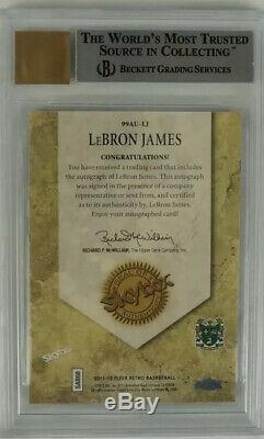 Fleer Retro Autographed LeBron James Skybox Autographics HS Jersey BGS 9 10 Auto