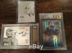 Huge Football Card Bgs Graded Nt Rpa Patch Auto 1/1 Laundry Tag Rc Lot Stars