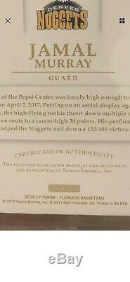 Jamal Murray 2016-17 Rookie 1/1 NBA Logoman RC Auto RPA Game Worn Patch BGS 9.5
