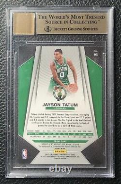 Jayson Tatum 2017 Panini Prizm Silver Rookie Auto Rc Gem Mint Bgs 9.5/10 Celtics