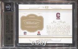 Jim Thorpe 2016 Panini Flawless Cut Autograph 1/1 Bgs 9.5 10 Auto Canton Hof