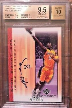 KOBE BRYANT 2000-01 UD ENCORE STAR SIGNATURES AUTOGRAPH BGS 9.5 With 10 AUTO