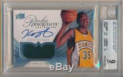 Kevin Durant 2007/08 Ud Exquisite Rc Autograph Patch Auto Sp #/99 Bgs 9 Mint 10
