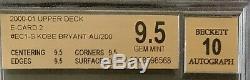 Kobe Bryant 2000-01 Upper Deck E-Card 2 Autograph /200 BGS 9.5 QUAD Auto 10 RARE