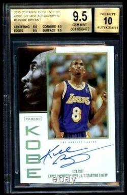 Kobe Bryant 2019-20 Panini Contenders Tribute Auto Autograph BGS 9.5 10 #6 Pop 1