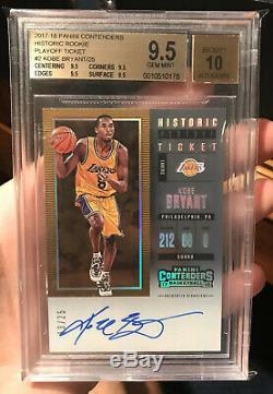 Kobe Bryant Auto Autograph 2017-18 Oanini Contenders Rookie BGS 9.5/10 True Gem