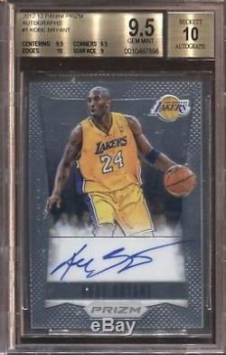Kobe Bryant Bgs 9.5 2012-13 Panini Prizm Basketball #1 Auto Autograph Lakers