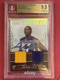 Kobe Bryant National Treasures Dual Patch On Card Auto /30 BGS 9.5 / 10