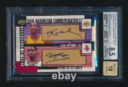 Kobe Bryant Tracy Mcgrady 2004 Upper Deck Hardcourt Hardwood Autograph Auto Bgs
