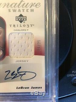 LEBRON JAMES 2005-06 UD TRILOGY AUTO Signature Swatch BGS 9.5 Upper Deck Lakers