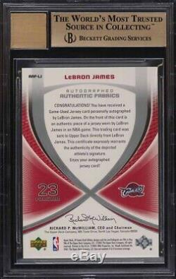 Lebron James 2005 Sp Game Used Autograph Fabric Jersey Auto #/100 Bgs 9.5 Pmjs