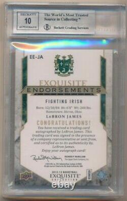 Lebron James 2012/13 Ud Exquisite Endorsements Autograph Sp Auto #/99 Bgs 8.5 10