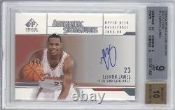 Lebron James Bgs 9 2003-04 Ud Sp Signature Edition Rookie Auto Autograph Lakers