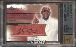 Lebron James Bgs 9 2003-04 Ud Sweet Shot Signature Rookie Auto Autograph Lakers