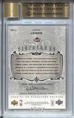 Lebron James Bgs 9.5 2006-07 Ud Sp Signature Lebron James Auto Autograph Lakers