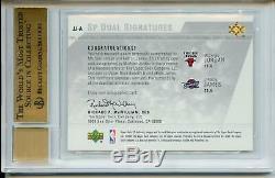 Lebron James Michael Jordan Auto 2003-04 SP Authentic Rookie Autograph BGS 10