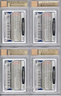 Lot of (4) BGS 9.5 GEM MINT AUTO 10 AARON JUDGE 2013 Bowman Chrome Autograph RC