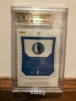 Luka Doncic 2018-19 Panini National Treasures Rookie Patch Auto /99 BGS 9.5/10
