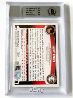 MIKE TROUT 2011 TOPPS UPDATE RC BAS GRADED PRISTINE 10 Auto Card BGS 9 Mint