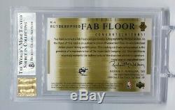 Michael Jordan 2001-02 Ud Honor Roll Fab Floor Autographs Auto Bgs 9 Mint