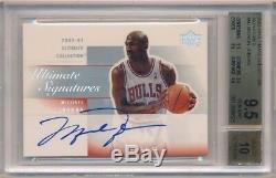 Michael Jordan 2003/04 Ud Ultimate Collection Autograph Sp Auto Bgs 9.5 Gem 10