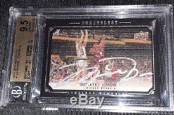 Michael Jordan 2007-08 Chronology Timeless Memories Autograph Auto /99 BGS9.5