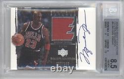 Michael Jordan Bgs 8.5 2003-04 Ud Exquisite Patch Auto Autograph /100 Bulls Rare