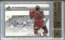 Michael Jordan Bgs 9.5 2003-04 Ud Sp Authentic Signatures Auto Autograph Bulls
