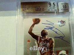 Michael Jordan Graded Auto BGS 9.5/10 2007-08 Ultra SE Autographics Blue #AUMJ