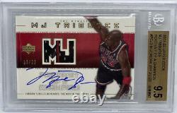 Michael Jordan UD MJ Tributes Auto G/U Bulls Jersey Patch #/23 BGS 9.5 Gem Mint+