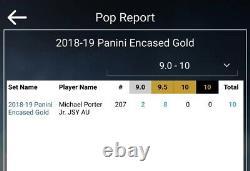 Michael Porter Jr 2018-19 Panini Encased Gold /10 Rookie RC Auto BGS 9.5 POP 8