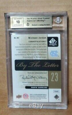 Michael jordan auto O patch BGS Quad 9.5 s Letterman SP autograph Gem Mint with10