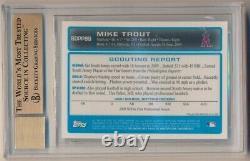 Mike Trout 2009 Bowman Chrome Rc Rookie Autograph Sp Auto Bgs 9.5 Gem Mint 10