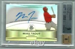 Mike Trout 2010 Bowman Platinum Auto Autograph Refractor RC BGS 9 Mint BPA-MT