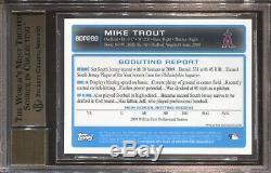 Mike Trout Bgs 9.5 2009 Bowman Chrome Draft Prospect Auto Autograph Angels 7510