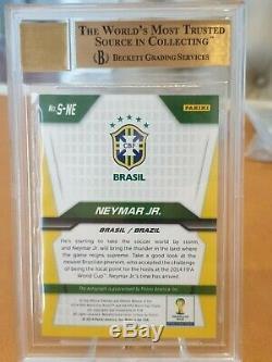 NEYMAR JR 2014 Panini Prizm World Cup Soccer autograph BGS 9.5 9 auto BRAZIL