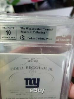 Odell Beckham Jr 2014 National Treasures #1/1 Auto Autograph Rookie RC BGS 9