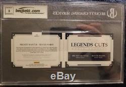 Panini National Treasures Roger Maris & Mickey Mantle dual cut auto /5 BGS