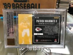 Patrick Mahomes 2017 Contenders Rookie Ticket Variation Auto SP BGS 9 SB MVP