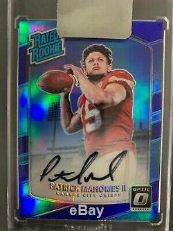 Patrick Mahomes Signed Jersey, Optic RC Auto, Prizm Orange BGS 9.5