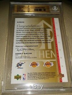 Sp Authentic Michael Jordan Kobe Bryant Magic Johnson Autograph Auto /10 Bgs 9.5