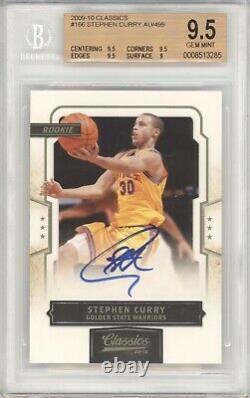Stephen Steph Curry Bgs 9.5 2009-10 Classics Rookie Autograph /499 (9 Auto) 3285